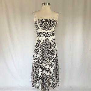 White House Black Market Floral Print Silk Dress